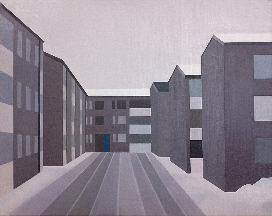 Ringduvegatan, 55x70cm, Oil on linen, 2013